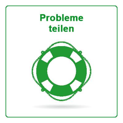 Corona-Krise: Probleme teilen Button